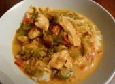 Poulet curry coco et poivrons