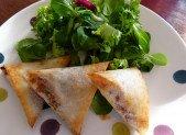 Samoussas au poulet épicé et aux poivrons