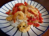 Crevettes sautées au piment
