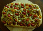 Focaccia tomates mozzarella