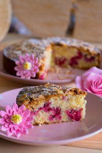 Gâteau amandes et framboises réduits  (6)