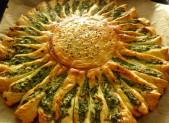 Tarte soleil aux épinards et à la ricotta