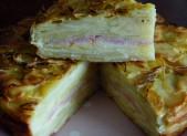 Gâteau invisible aux pommes de terre et à la raclette