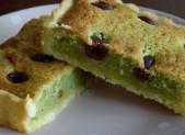 Tarte pistaches griottes