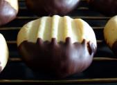 Sablés pattes de chat au chocolat