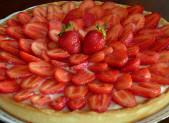 Tarte aux fraises et crème pâtissière vanille