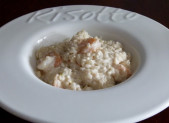 Risotto aux crevettes et lait de coco