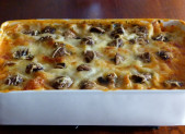Lasagnes poulet, bacon et champignons