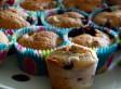 Muffins aux fruits rouges et à la banane
