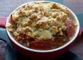 Crumble parmesan aux tomates