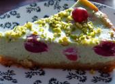 Cheesecake cerises et pistaches