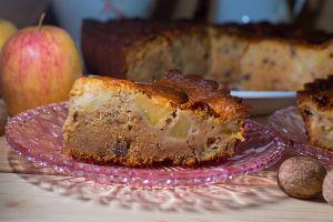 Gâteau pommes noix miel réduites (2)