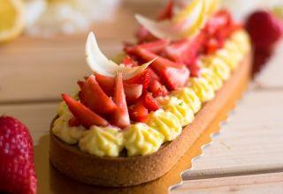 Tarte aux fraises et crème aux citron réduites  (8)